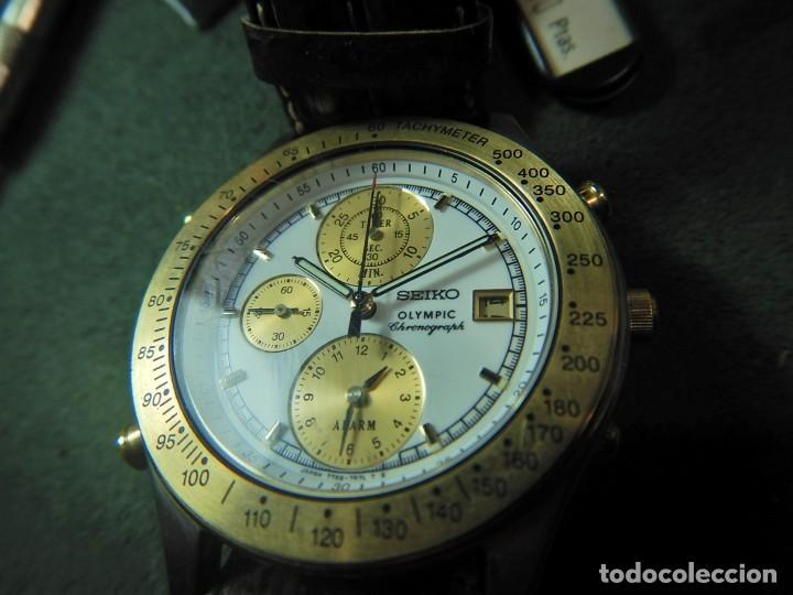 Relojes - Seiko: Reloj Seiko cronografo olympic 7T42-7A50 - Foto 4 - 233009895