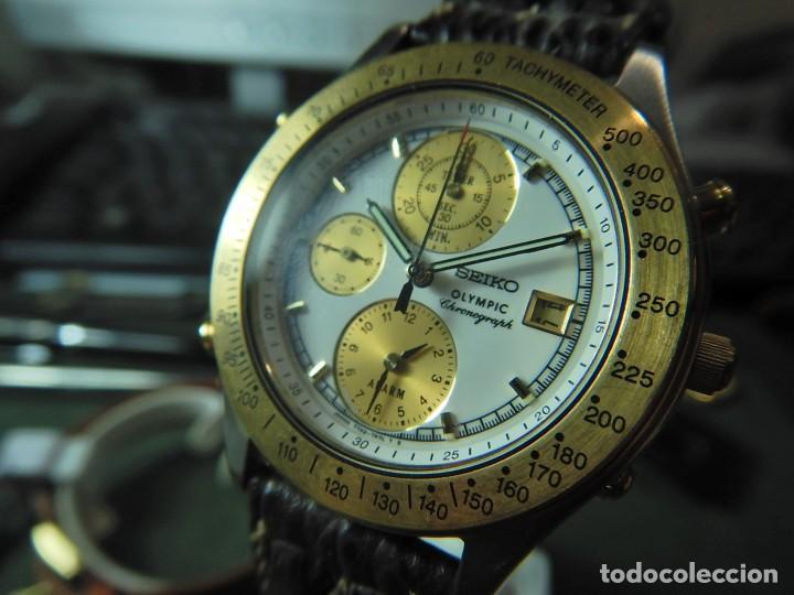 Relojes - Seiko: Reloj Seiko cronografo olympic 7T42-7A50 - Foto 7 - 233009895