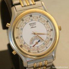 Relojes - Seiko: SEIKO QUARTZ ALARM 8M15 - 8000 ACERO Y ORO 37MM TODO ORIGINAL. Lote 234334290
