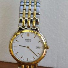Relojes - Seiko: RELOJ UNISEX (VINTAGE) SEIKO CUARZO ACERO BICOLOR, ESFERA BLANCA, CALENDARIO TRES, CORREA ORIGINAL.. Lote 243349645