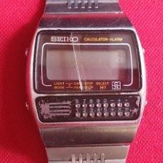 Relojes - Seiko: RELOJ SEIKO CALCULADORA -ALARMA CUARZO CRISTAL ROTO NO ESTA PROBADO.MIDE 35 MM DIAMETRO. Lote 244510565