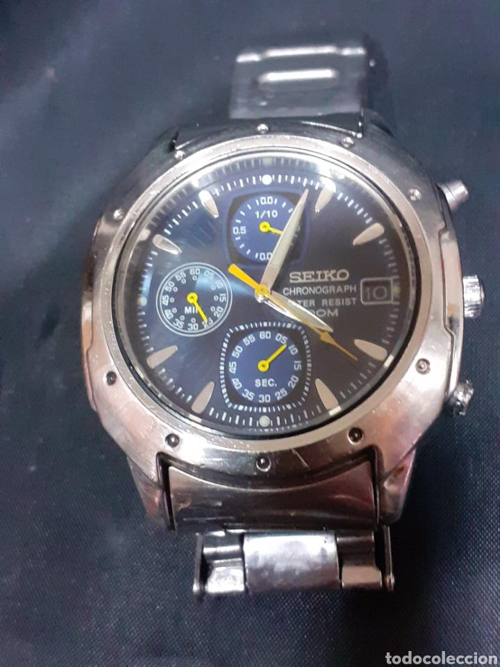RELOJ SEIKO CRONOGRAFO 40 MM SIN CORONA FUNCIONA (Relojes - Relojes Actuales - Seiko)