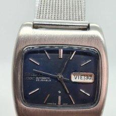 Relojes - Seiko: RELOJ CABALLERO (VINTAGE) SEIKO DX AUTOMATICO 25 RUBIS, ESFERA NEGRA, CALENDARIO LAS TRES 6106-5410. Lote 247659050