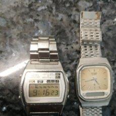 Relojes - Seiko: SEIKO A128 5010 Y CITIZEN 30 3216, AÑOS 80. Lote 251906365