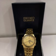 Relógios - Seiko: RELOJ SEIKO CHRONOGRAPH DORADO. Lote 253148880