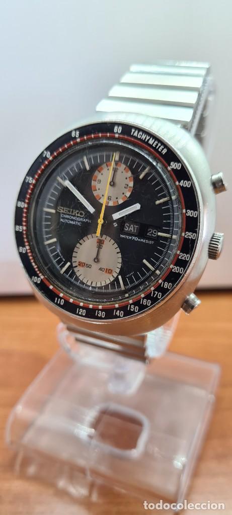 Relojes - Seiko: Reloj caballero (Vintage) Seiko UFO automatico cronografo, doble calendario a las tres, correa acero - Foto 2 - 253542420