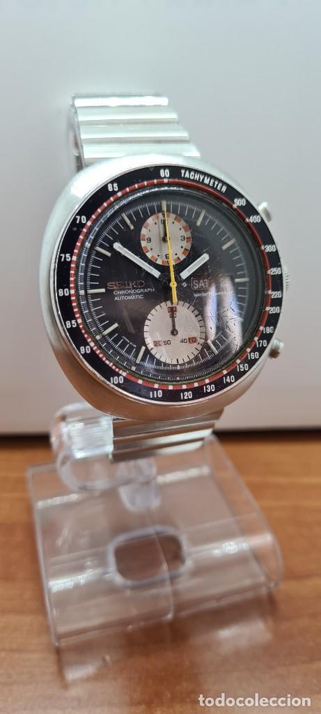 Relojes - Seiko: Reloj caballero (Vintage) Seiko UFO automatico cronografo, doble calendario a las tres, correa acero - Foto 3 - 253542420