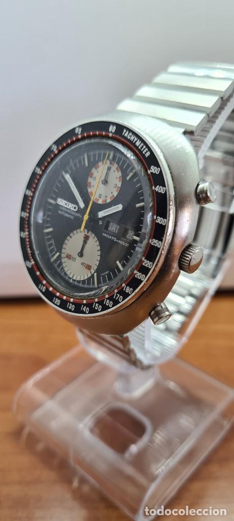 Relojes - Seiko: Reloj caballero (Vintage) Seiko UFO automatico cronografo, doble calendario a las tres, correa acero - Foto 4 - 253542420
