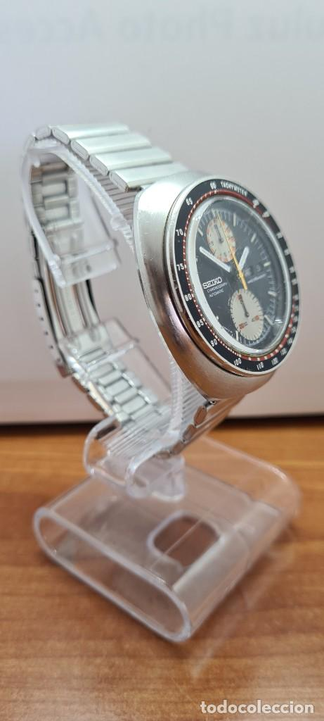 Relojes - Seiko: Reloj caballero (Vintage) Seiko UFO automatico cronografo, doble calendario a las tres, correa acero - Foto 7 - 253542420