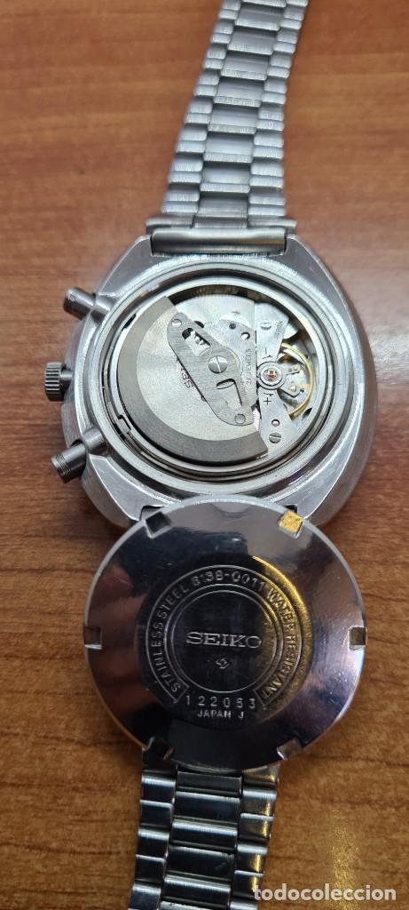 Relojes - Seiko: Reloj caballero (Vintage) Seiko UFO automatico cronografo, doble calendario a las tres, correa acero - Foto 8 - 253542420