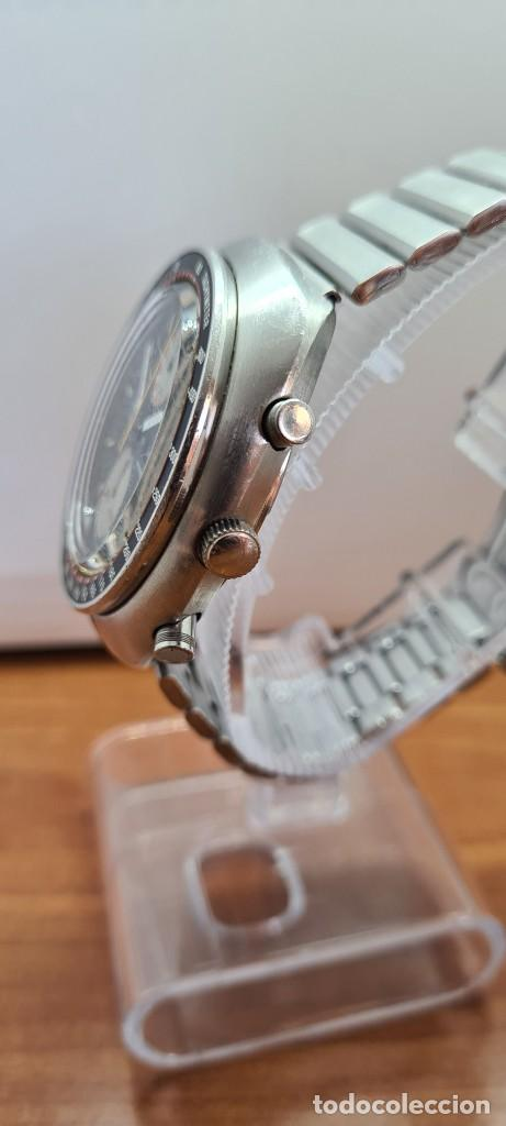Relojes - Seiko: Reloj caballero (Vintage) Seiko UFO automatico cronografo, doble calendario a las tres, correa acero - Foto 9 - 253542420