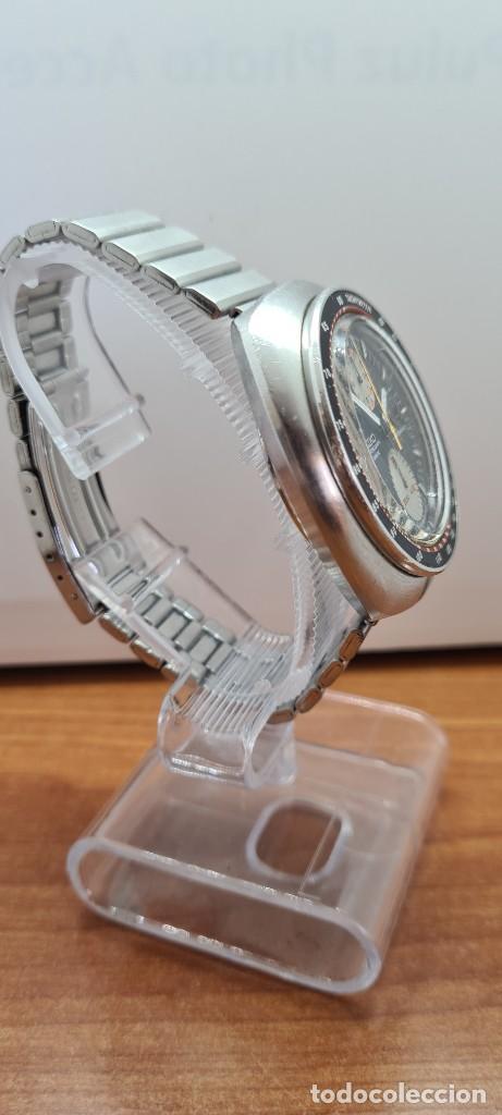 Relojes - Seiko: Reloj caballero (Vintage) Seiko UFO automatico cronografo, doble calendario a las tres, correa acero - Foto 11 - 253542420