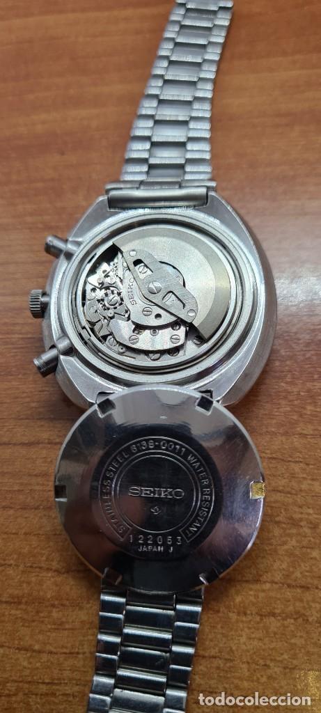 Relojes - Seiko: Reloj caballero (Vintage) Seiko UFO automatico cronografo, doble calendario a las tres, correa acero - Foto 14 - 253542420