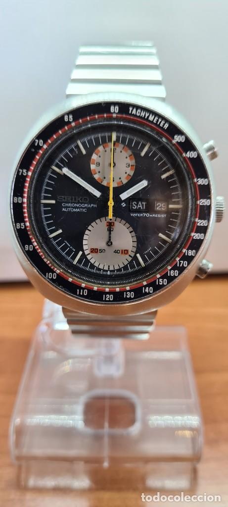 Relojes - Seiko: Reloj caballero (Vintage) Seiko UFO automatico cronografo, doble calendario a las tres, correa acero - Foto 15 - 253542420