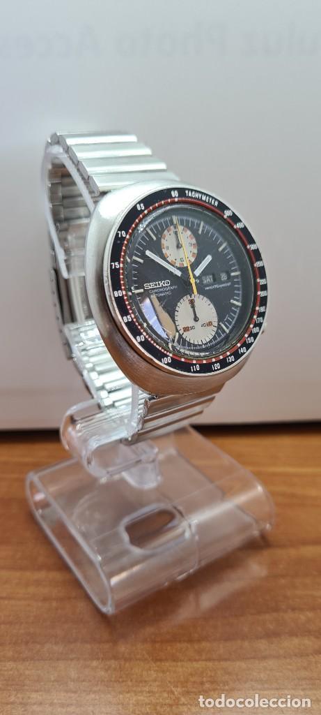 Relojes - Seiko: Reloj caballero (Vintage) Seiko UFO automatico cronografo, doble calendario a las tres, correa acero - Foto 16 - 253542420