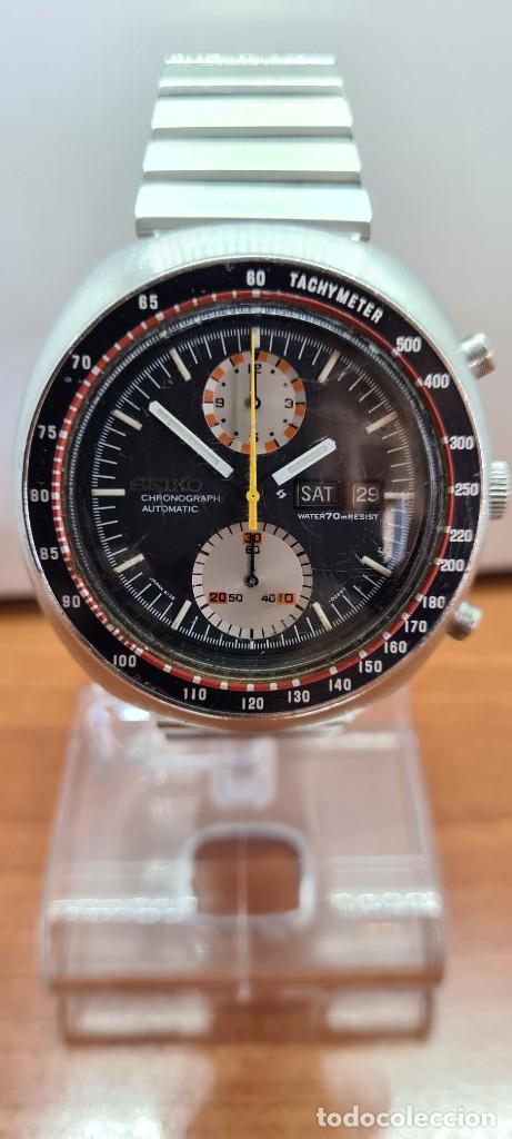 Relojes - Seiko: Reloj caballero (Vintage) Seiko UFO automatico cronografo, doble calendario a las tres, correa acero - Foto 18 - 253542420