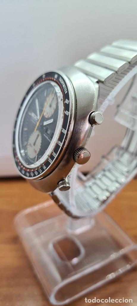 Relojes - Seiko: Reloj caballero (Vintage) Seiko UFO automatico cronografo, doble calendario a las tres, correa acero - Foto 23 - 253542420