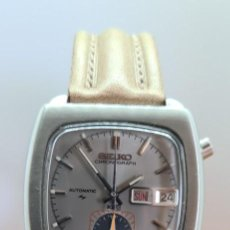 Relógios - Seiko: RELOJ CABALLERO (VINTAGE) SEIKO MONACO, AUTOMATIC CRONOGRAFO, DOBLE CALENDARIO A LAS TRES, C. CUERO.. Lote 253548685