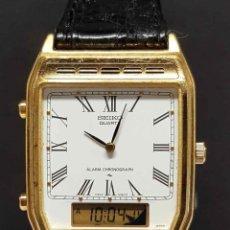 Relojes - Seiko: RELOJ SEIKO H249-5130 - CRONOGRAFO - ALARMA- VINTAGE, NOS (NEW OLD STOCK). Lote 254957130