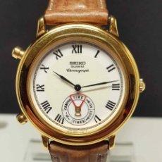 Relojes - Seiko: RELOJ SEIKO 8M25-7110 - CRONOGRAFO - ALARMA- VINTAGE, NOS (NEW OLD STOCK). Lote 254966305