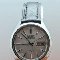 Relojes - Seiko: RELOJ CABALLERO (VINTAGE) SEIKO 5 ACTUS, AUTOMATICO 21 RUBIS, ESFERA BLANCA, DOBLE CALENDARIO TRES.. Lote 255404340