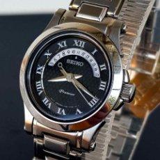 Relojes - Seiko: RELOJ SEIKO PREMIER 7N82-0CD0 - CRISTAL ZAFIRO -10 ATM - VINTAGE - NOS (NEW OLD STOCK). Lote 255965580