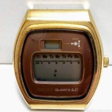 Relógios - Seiko: SEIKO DIGITAL AÑOS 70 ACERO CHAPADO, CORONA ORIGINAL FUNCIONA PERO SE PARA (PROBLEMA DE CONTACTO). Lote 257782380