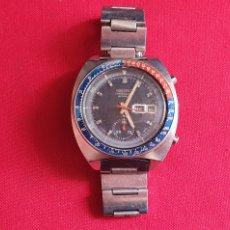 Relógios - Seiko: RELOJ SEIKO AUTOMATIC CHRONOGRAF BISEL PEPSI FUNCIONA PERO LE FALTA LA CORONA MIDE 42.1 MM DIAMETRO. Lote 260526000