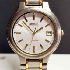 Relojes - Seiko: RELOJ SEIKO 7N42-8090 - TITANIO - VINTAGE - NOS (NEW OLD STOCK). Lote 261247165