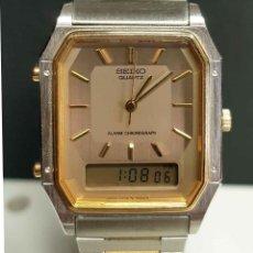 Relojes - Seiko: RELOJ SEIKO H449-5240 - CRONOGRAFO - ALARMA- VINTAGE, NOS (NEW OLD STOCK). Lote 261249025