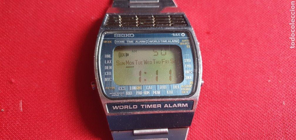 RELOJ SEIKO WORLD TIMER ALARM FUNCIONA.MIDE 33.4 MM DIAMETRO (Relojes - Relojes Actuales - Seiko)