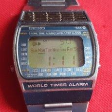 Relógios - Seiko: RELOJ SEIKO WORLD TIMER ALARM FUNCIONA.MIDE 33.4 MM DIAMETRO. Lote 261268635