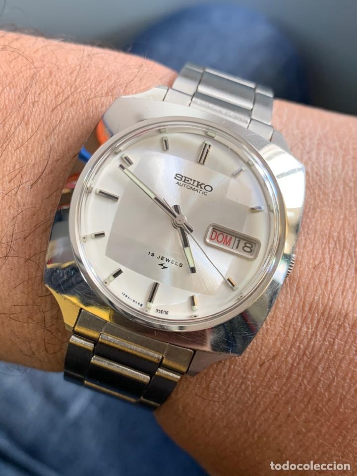 RELOJ COLECCIÓN VINTAGE SEIKO 7006-7120. 19JEWELS AUTOMATIC DAY DATE JAPAN COMO NUEVO (Relojes - Relojes Actuales - Seiko)