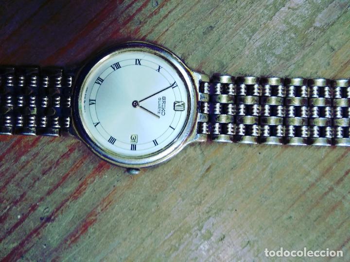 Relojes - Seiko: Reloj pulsera Seiko Quartz. No funciona. Uso. Caja medallas - Foto 5 - 265808759