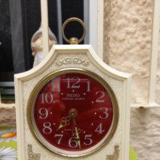 Relojes - Seiko: RELOJ DESPERTADOR SEIKO CORONA FANCY AÑOS 70 (JAPAN) FUNCIONANDO PERFECTAMENTE MANUAL. Lote 266421943