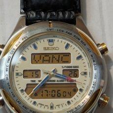 Relojes - Seiko: RELOJ SEIKO DIGITAL/ANALÓGICO WORLD TIME/2 ALARMAS/CRONÓMETRO FUNCIONANDO H021-8040 A4. Lote 272032923