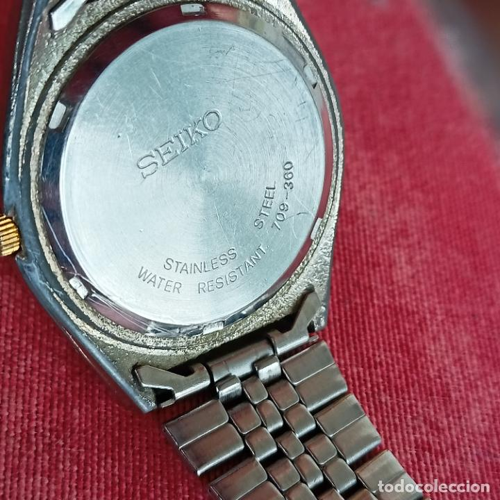 Relojes - Seiko: RELOJ AUTOMATICO SEIKO Nº 5 ESFERA NEGRA funcionando 709-360 - Foto 5 - 272456698