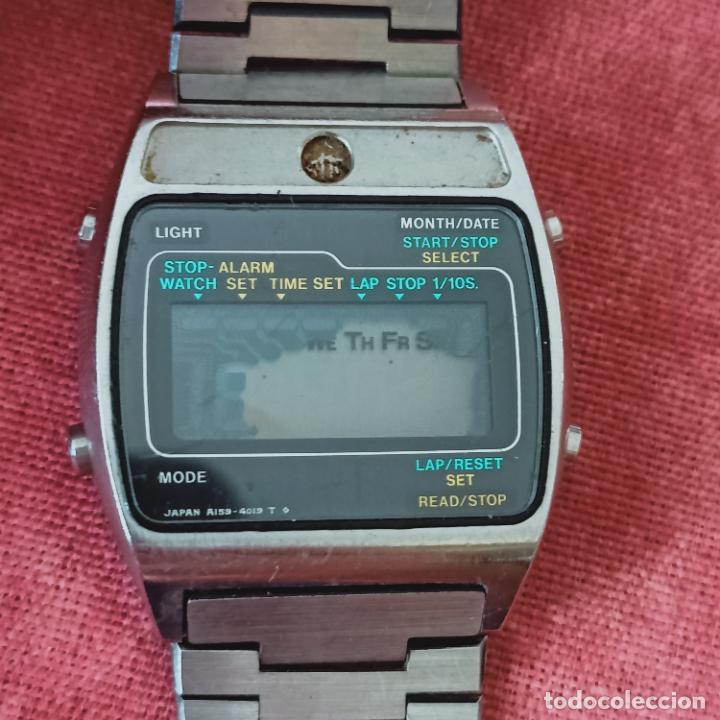 1970 SEIKO A159-5019-G LCD CUARZO RELOJ JAPÓN PARA PIEZAS (Relojes - Relojes Actuales - Seiko)