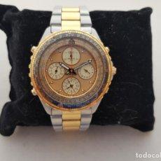 Relojes - Seiko: RARO SEIKO FLIGHMASTER 7T34 - 6A00 BISEL GIRATORICON CAJA ORIGINAL CATEGORIA ACERO Y ORO FUNCIONANDO. Lote 275043688