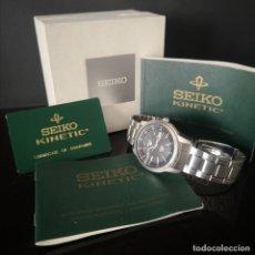 Relojes - Seiko: RELOJ SEIKO 5 KINETIC AUTOMATICO CALIBRE 44 MM AÑO 2010 CON CAJA ORIGINAL DOCUMENTACION Y GARANTIA. Lote 275863758