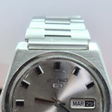 Relojes - Seiko: RELOJ CABALLERO (VINTAGE) SEIKO ACERO AUTOMÁTICO, 21 RUBIS, DOBLE CALENDARIO A LAS TRES, 6119-8190.. Lote 279451018