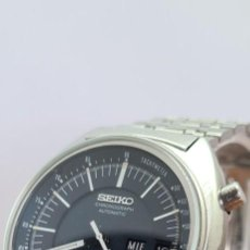 Relógios - Seiko: RELOJ CABALLERO (VINTAGE) SEIKO, AUTOMÁTICO, CRONOGRAFO, DOBLE CALENDARIO A LAS TRES, CORREA ACERO. Lote 280228673