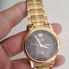 Relojes - Seiko: BONITO RELOJ SEIKO DORADO CUARZO NUEVO 44 MM OFERTA SUBASTA. Lote 283626053