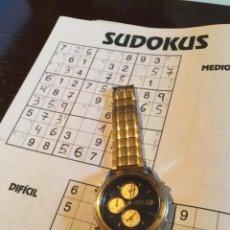 Relojes - Seiko: FABULOSO RELOJ SEIKO CRONOGRAFO BRAZALETE PLAQUE ORO. Lote 283866138