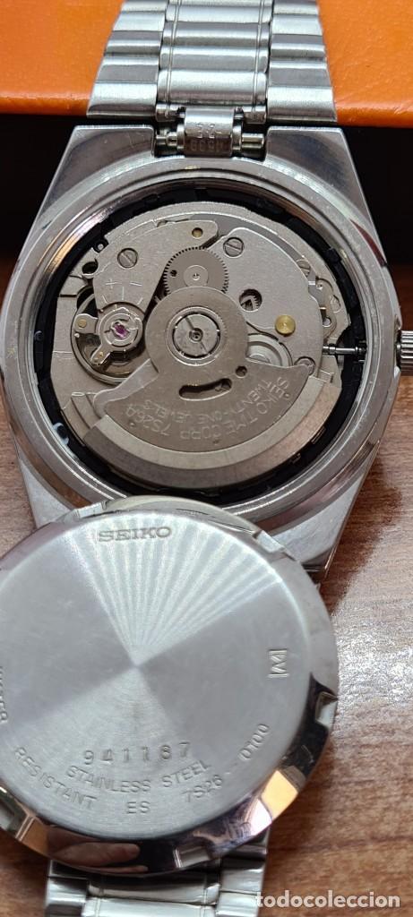 Relojes - Seiko: Reloj caballero (Vintage) SEIKO 5, automático 21 rubis, esfera negra, doble calendario a las tres. - Foto 9 - 284393683