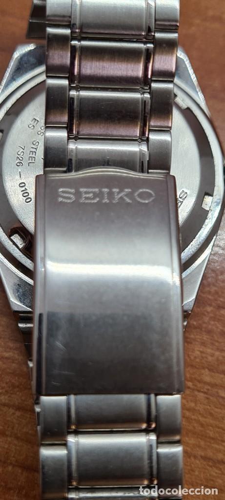 Relojes - Seiko: Reloj caballero (Vintage) SEIKO 5, automático 21 rubis, esfera negra, doble calendario a las tres. - Foto 15 - 284393683