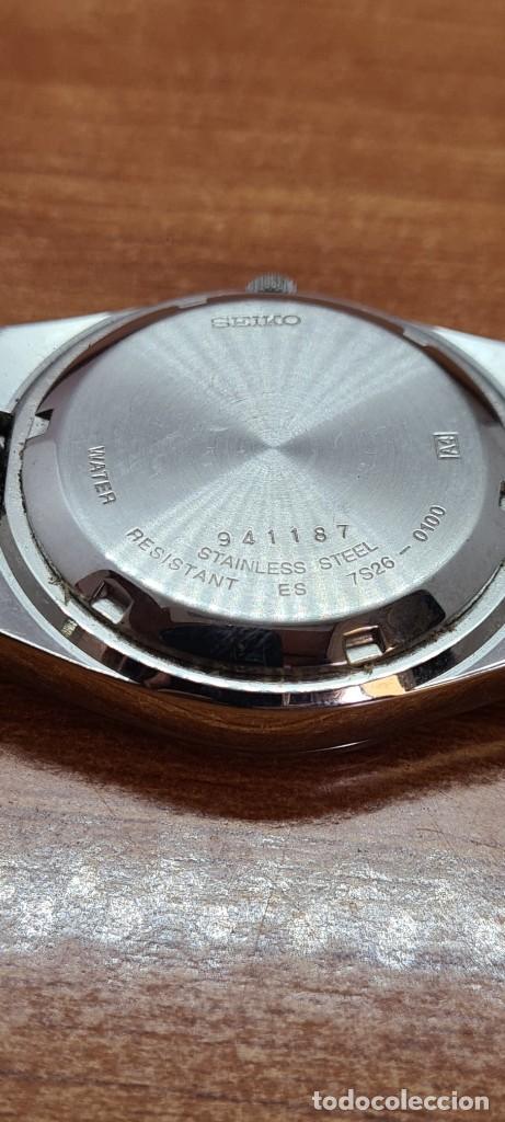 Relojes - Seiko: Reloj caballero (Vintage) SEIKO 5, automático 21 rubis, esfera negra, doble calendario a las tres. - Foto 17 - 284393683