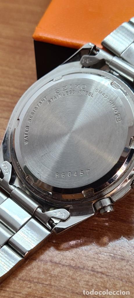 Relojes - Seiko: Reloj (Vintage) SEIKO. Kinetic, automático, esfera azul, calendario tres, correa de acero original - Foto 17 - 284409368