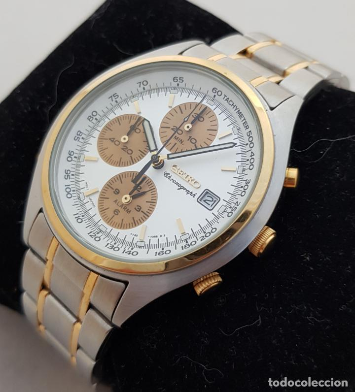 SEIKO CRONOGRAPH 7T32 - 7080 ACERO Y ORO CASI NUEVO 39MM (Relojes - Relojes Actuales - Seiko)