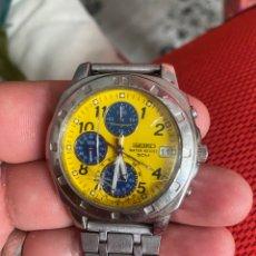 Relojes - Seiko: AUTENTICO RELOJ SEIKO CRONOGRAFO 5 BAR ACERO TAMAÑO GRANDE FUNCIONA PERFECTAMENTE. Lote 287120228